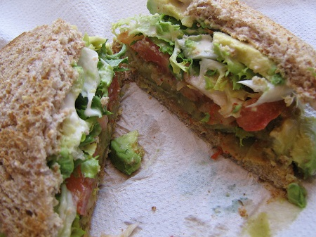 Split Pea Club Sandwich