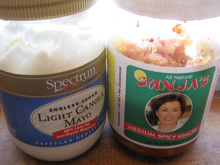 Vegan Mayo and Sunja's Kimchi